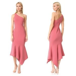 Cinq A Sept Dulcina One-Shoulder Ruffle Hem Dress
